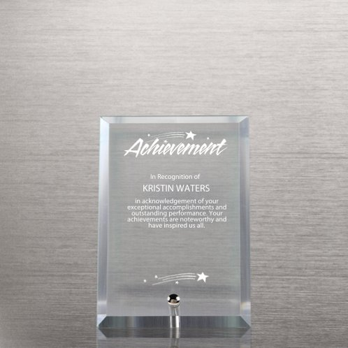 Mini Glass Award Plaque Clear At Baudville Com