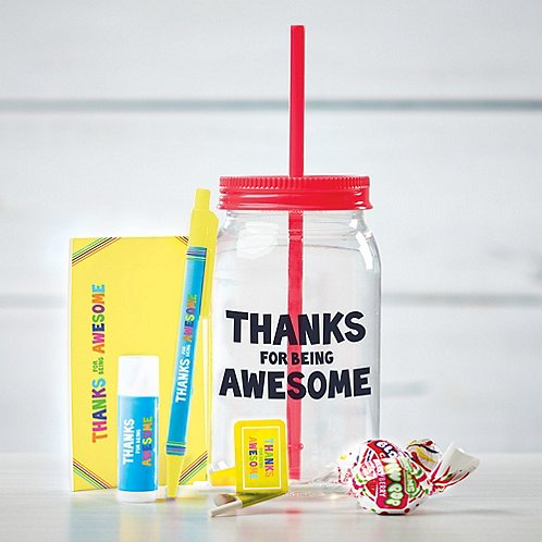 Value Mason Jar Gift Set - Thanks For Being Awesome