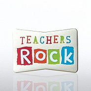 Lapel Pin - Teachers Rock!