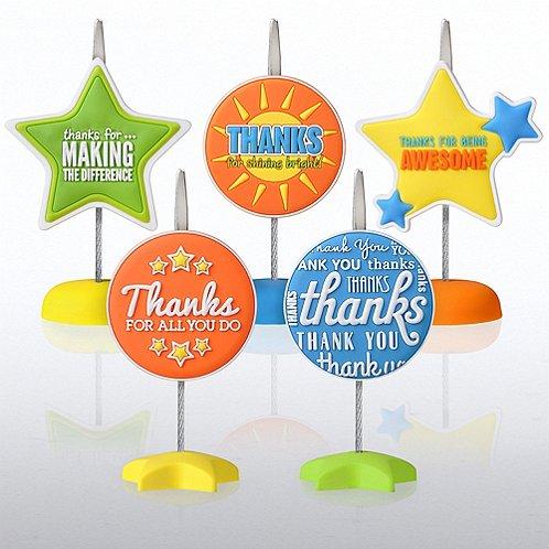 PVC Memo Clips - Thank You Edition!