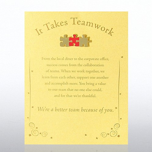 Character Pin - It Takes Teamwork - Gold Card