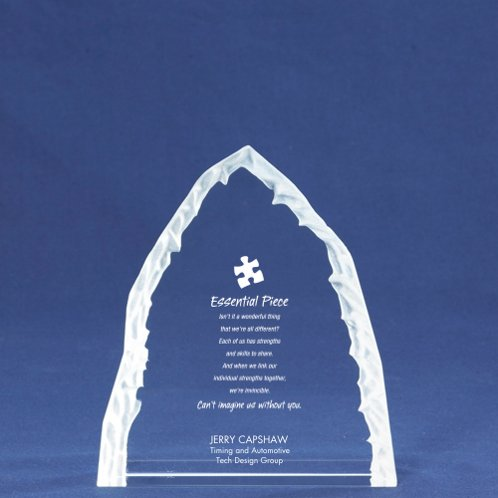 Crystal Summit Award Trophy