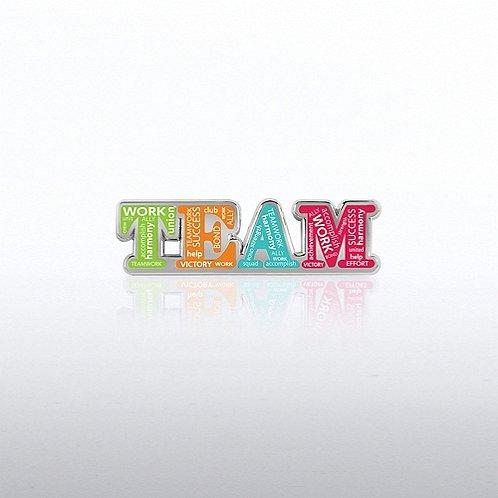 Lapel Pin - Team Words