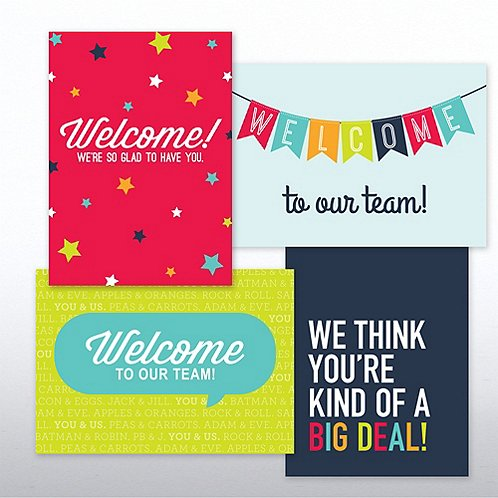 On Boarding Welcome Card Set