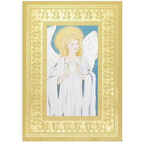 Holiday Greeting Card - Hand-Painted Angel