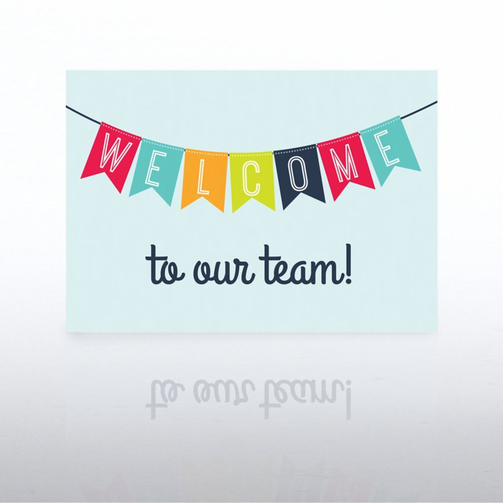 onboarding greeting card welcome banner at baudville com rh baudville com welcome to lucky land welcome to lucky land