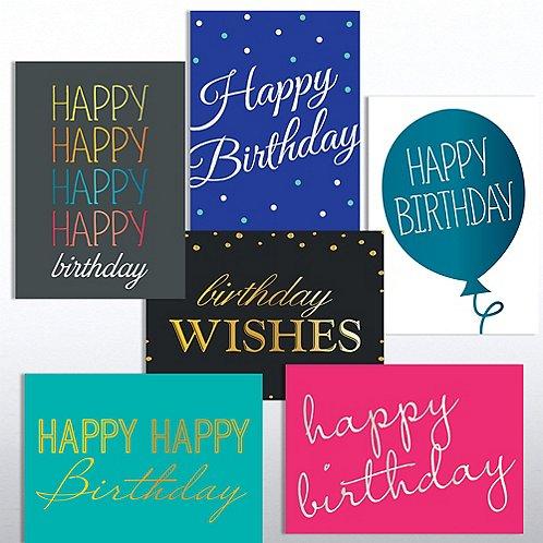 Classic Celebrations Deluxe Foil Birthday Assortment