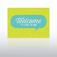 Onboarding - Greeting Card - Welcome Quote Bubble