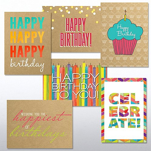 Classic Celebrations Birthday Cheer Greeting Card Assortment At Baudville