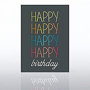 Classic Celebrations - Deluxe Foil Birthday - Multi Color