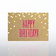 Classic Celebrations Card - Happy Birthday Confetti