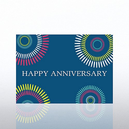 Classic Celebrations - Happy Anniversary Color Burst