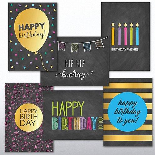 Classic Celebrations - Happy Birthday Chalkboard Assortment