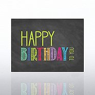 Classic Celebrations Card- Chalkboard: Happy Birthday To You