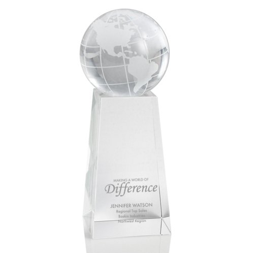 Crystal Trophy - Globe Tower