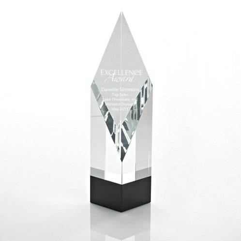Elite Black Accent Trophy - Diamond