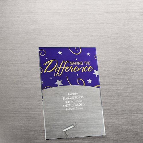 Mini Acrylic Award Plaques - Stars: Making the Difference