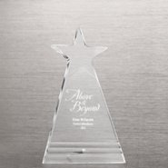 Shining Star Acrylic Award Plaque