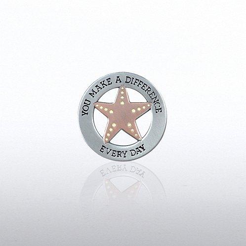 Lapel Pin - Starfish Pearl