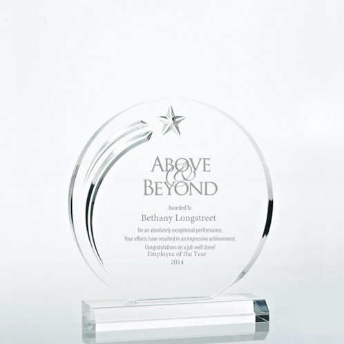 Star Acrylic Trophy - Circle