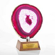 Agate Stone Trophy - Pink