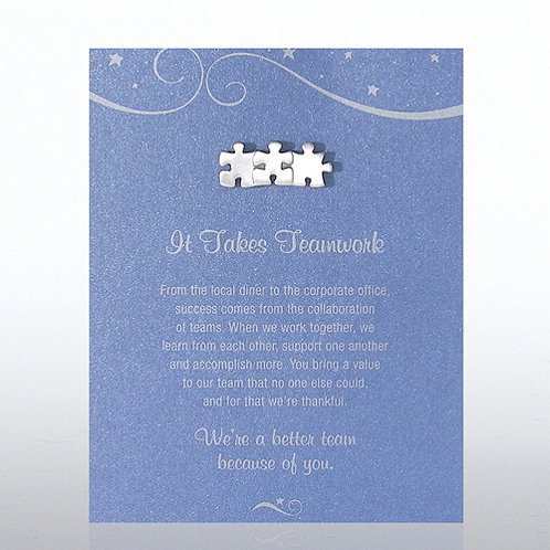 Character Pin - It Takes Teamwork - Blue Card