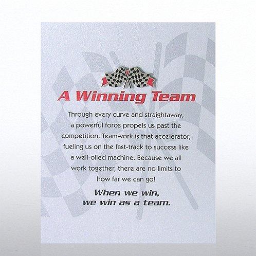 Character Pin - Checkered Flag: A Winning Team