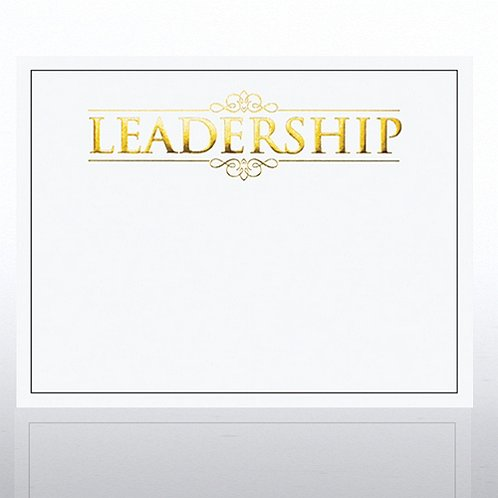 Foil Certificate Paper - Leadership - White at Baudville.com