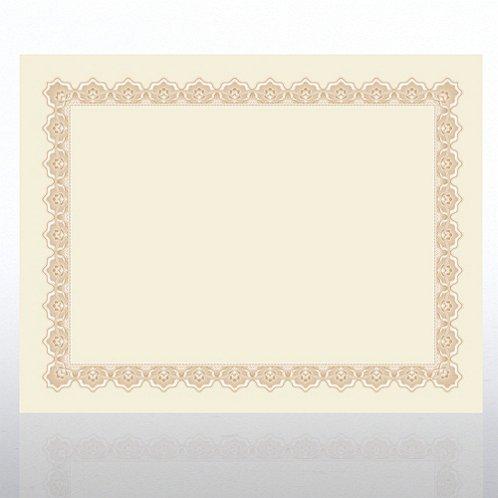certificate paper scallop natural parchment gold at baudville com
