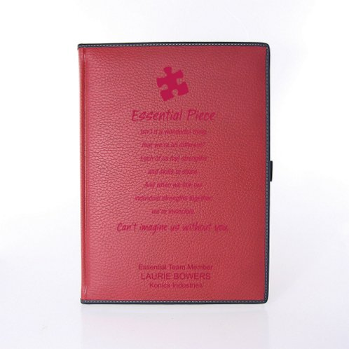 Italian Leatherette Journal - Textured Red