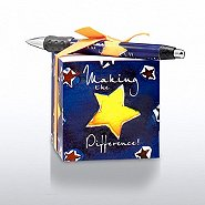 Note Cube & Pen Gift Set - Making the Difference