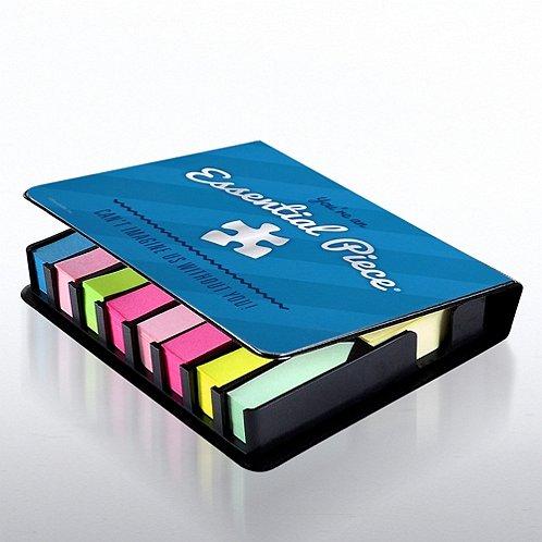 Flip Top Sticky Note Holder w/ Calendar - Essential Piece BL