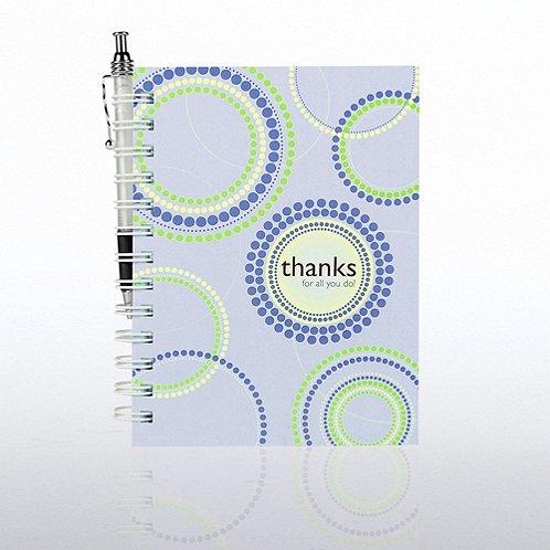 Journal & Pen Gift Set - Thanks for All You Do!