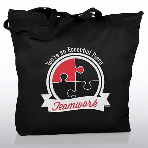 Zippered Tote Bag - Teamwork: You're an Essential Piece