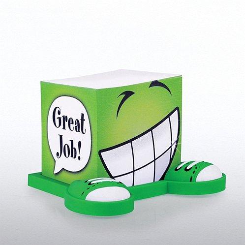 Goofy Guy Note Cube - Positive Praise - Great Job!