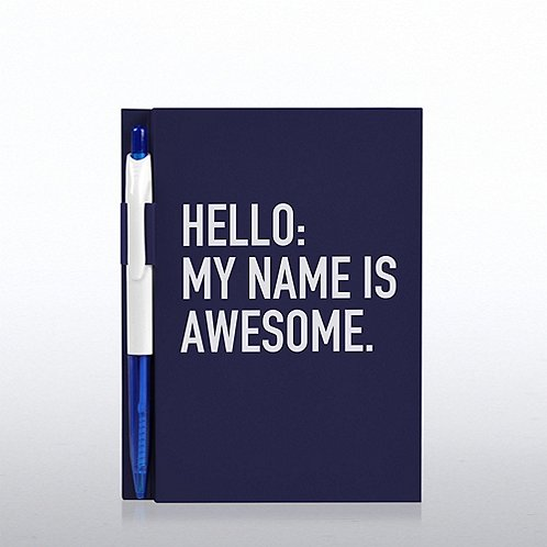 Value Journal & Pen Gift Set - Hello: My Name is Awesome