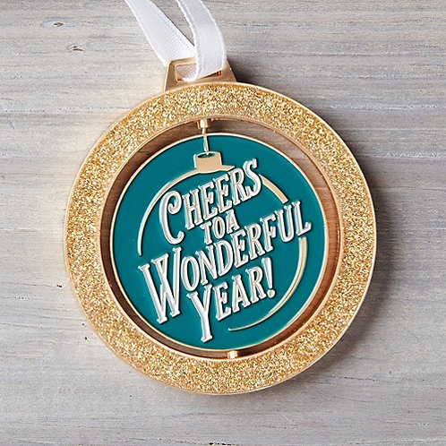 Spinner Ornament - Cheers to a Wonderful Year!