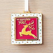 Spinner Ornament - We Appreciate You - Contemporary Reindeer