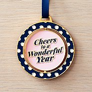 Spinner Ornament - Cheers To A Wonderful Year