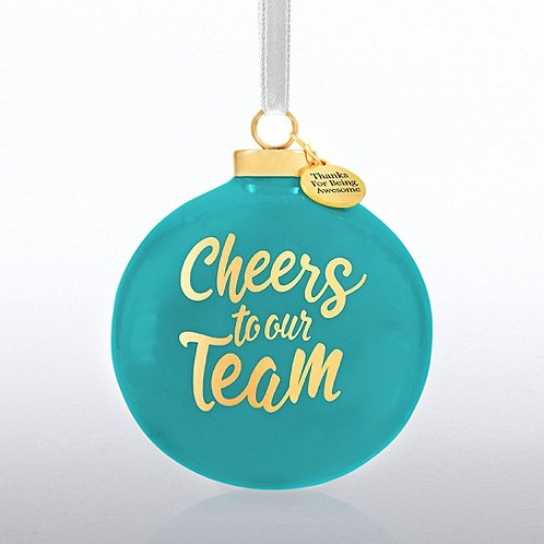 Holiday Cheer Ceramic Bulb - Cheers To Our Team