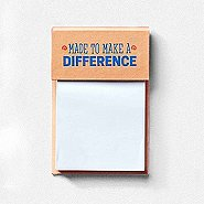 Value Sticky Notepad - Made To Make A Difference