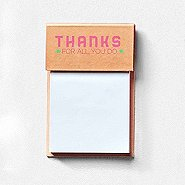 Value Sticky Notepad - Thanks For All You Do