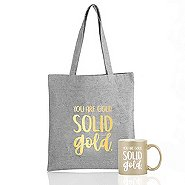 Metallic Gift Set - You Are Gold. Solid Gold.