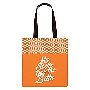 Value Polka Dot Totes - My Skills Pay the Bills