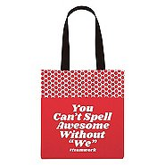 Value Polka Dot Totes - You Can't Spell Awesome Without