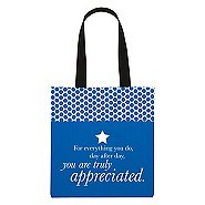 Value Polka Dot Totes - You Are Truly Appreciated