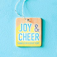 Festive Value Ornament - Joy & Cheer Thanks For A Great Year
