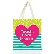 Colorific Tote - Teach. Love. Inspire.