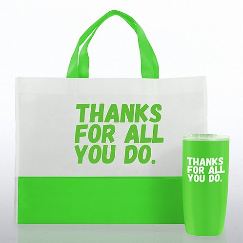 Tumbler and tote value gift set thanks for all you do at Thanks for all you do gifts