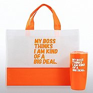 Tumbler and Tote Value Gift Set - My Boss...Big Deal